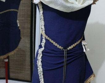 Steampunk Dress (Circus Court Asymmetrical Mini) xs, s, m, l, xl