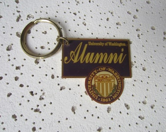 Keychain, University of Washington Alumni, Brass