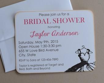 Custom Made Invitations - set of 10 - includes envelopes