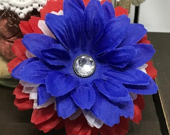 4th Of July Dog Collar Flower, Flower Dog Collar, Dog Flower, Pet Flower, Flower For Dog