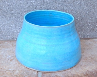 Spaniel dog water bowl long ears eared hand thrown stoneware pottery wheel thrown ceramic