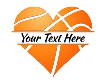 basketball heart svg svg files for cricut files for rh etsy com Girls Basketball Clip Art Girls Basketball Clip Art