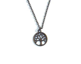 Tree of Life necklace - Bronze Necklace - Zen necklace - Mens Pendant necklace - Chain necklace - Mens necklace - Bronze pendant necklace