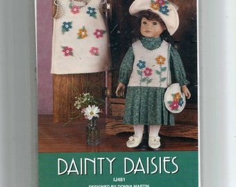 Dainty Daisies Pattern for A-Line Jumper, Flet Jumper with Pleated Skirt, Hat, Blouse and Purse