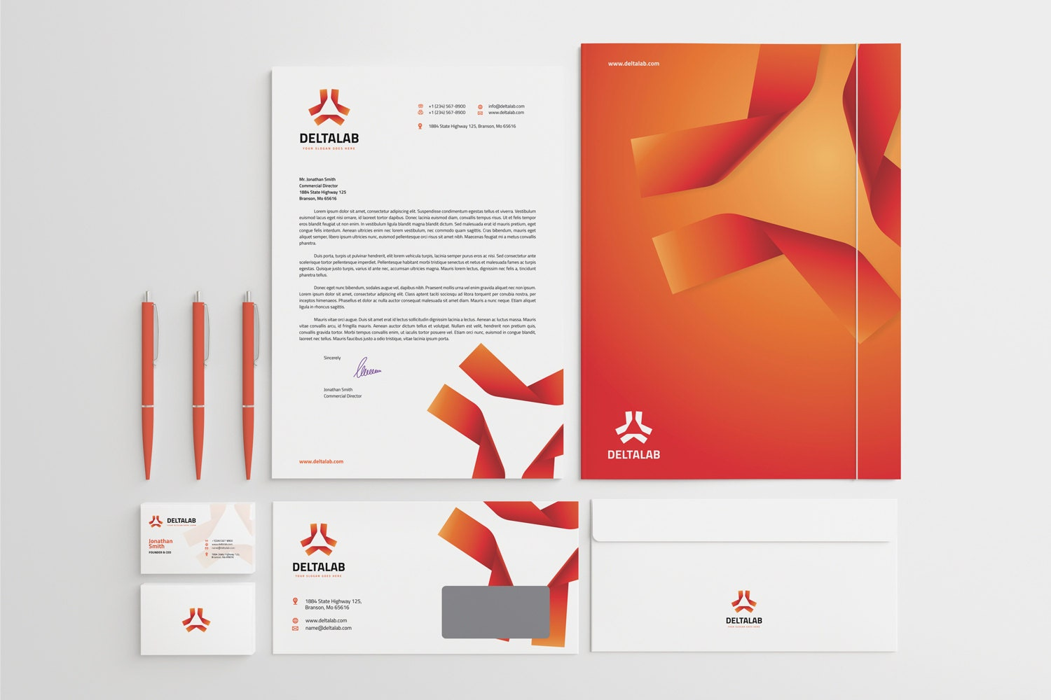 Corporate Stationery Design Template Business Card