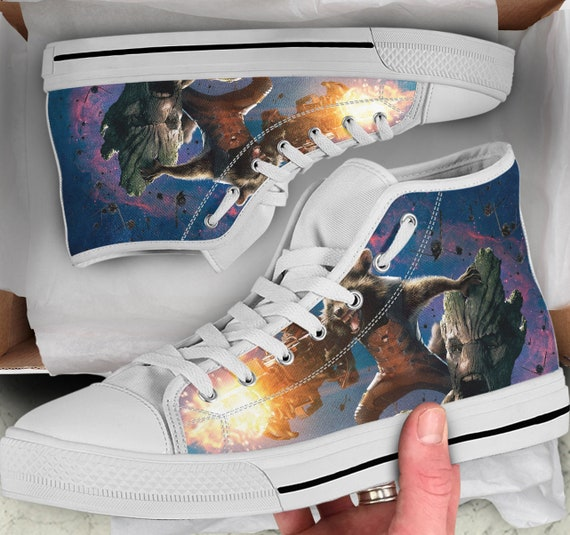 for sneakers Shoes the Tops him High Gift Men's Shoes her Women's Shoes of Converse galaxy Sneakers high Tops Guardians like Looks Colorful B4Hw7n