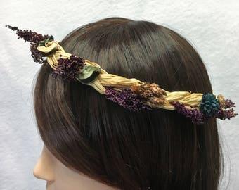 Dried Everlasting 58-59cm FLower Crown
