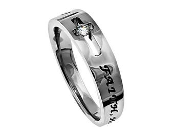 "Solitaire Ring ""Faith Hope Love"""