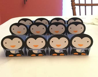 Cute Penguin Treat Cups Set of 12
