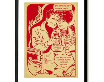 New Order Temptation inspired Art Print