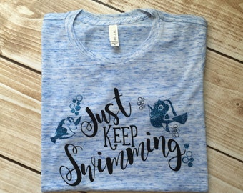 Just Keep Swimming Dory Adult T-shirt