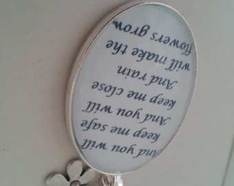 Les Miserables Eponine Quote Necklace. A Little Fall of Rain Lyrics