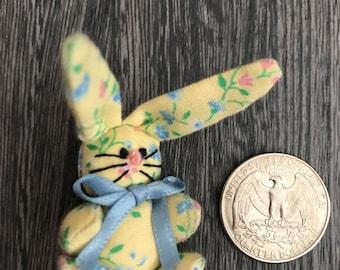 Miniature stuffed bunny