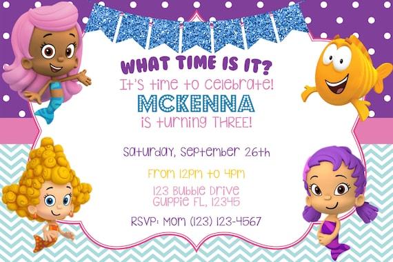 Bubble Guppies Invitation Bubble Guppies Birthday