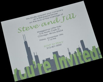 Chicago Silhouette Invitation