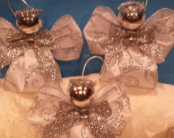 Ribbon Christmas Angel Ornaments