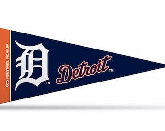 """Detroit Tigers MLB Mini Pennants, 4"""" x 9"""""""