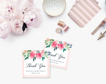 Printable Bridal Shower Gift Tags / Customized Favor Tags, Thank You Tags  - Charlotte Tags