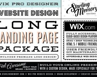 Wix LONG LANDING PAGE Website Package / Wix Website Design Package / Scrolling Single Page Website Design / Wix Pro Designer