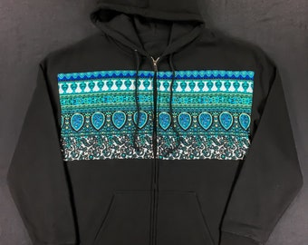 Limited- TEAL TRIPPER Zip Up - (X Large)