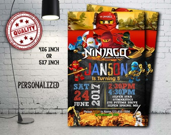 Lego Ninjago Birthday Invitation DIGITAL Lego Movie Party
