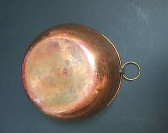 Vintage Solid Copper Eight Inch Bowl