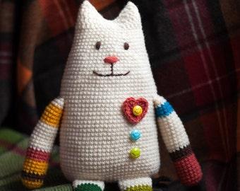 Crochet Toy Pattern. Crochet cat. Amigurimi Cat. Amigurumi doll CROCHET PATTERN, Plush Crochet Cat, Cat amigurumi pattern