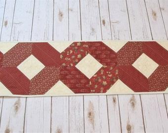 Handmade Quilt  - Patchwork Table Runner - Quilt Table Topper - Bridal Gift - Quilted Table Runner - Table Centerpiece - Mothers day Gift