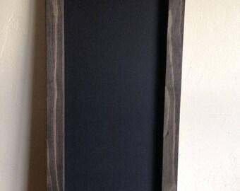 """Large Chalkboard 12""""x24"""", Kitchen Chalkboard, Kids Chalkboard, Menu Board, Wood Chalkboard, Wedding Chalkboard, Tall Chalkbord"""