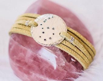 Aquarius star sign constellation zodiac wrap. Zodiac gift. Zodiac Jewelry. Personalized jewelry. Constellation bracelet. Aquarius gift. RTS