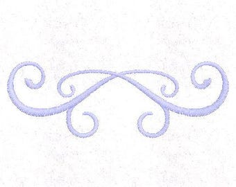 Easy Scroll Embroidery Design, Divider Embroidery Design, 4x4 Hoop MULTIPLE FORMATS Download