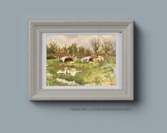 Pig Hut Landscape Oil Painting Plein Air Landscape Wall Art Landscape Painting Original Art Artwork Artist Original Painting Canvas Art Oils