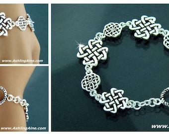 Celtic Love Knot Toggle Bracelet, irish bracelet, Love Knot, Celtic Bracelet, toggle bracelet, celtic Jewelry, irish jewelry,JPEW5587