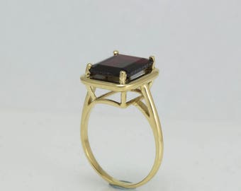 Solitaire Red Garnet  ring