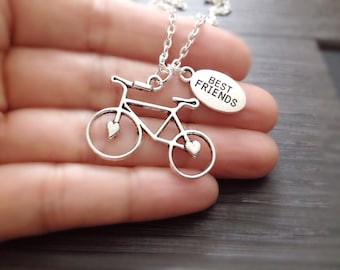 Bicycle Necklace, sterling silver filled, gift for best friend, Sports Jewelry, Cycling Jewelry, Bike Necklace, Bicycle Jewelry,