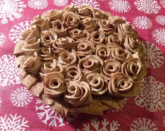 Rose Floral Faux Pie