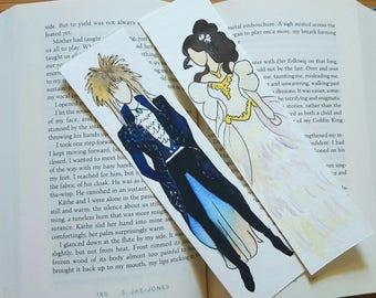 Labyrinth Minimalist Watercolor Bookmark, Goblin King