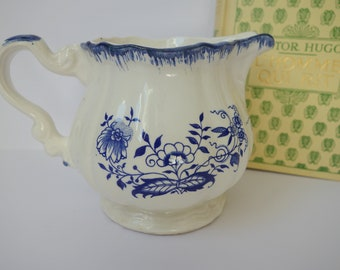 Vintage French Faience Pitcher - Blue - Early 1900s