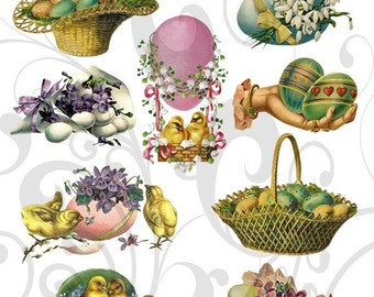 Old Cutz Easter Egg Collage Sheet 6ec