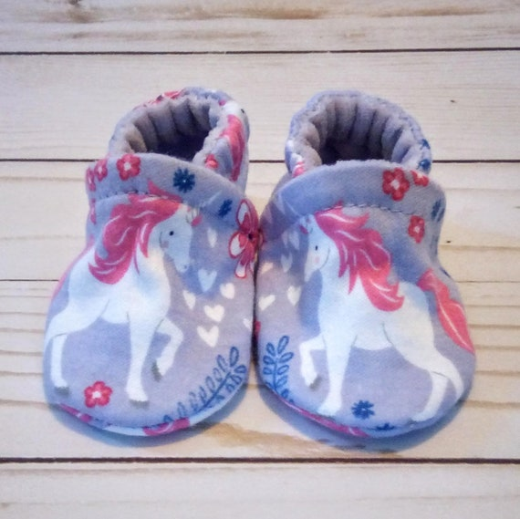 Unicorn: Soft Sole Baby Shoes 0-3M