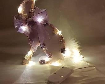 Sparkling wooden rabbit