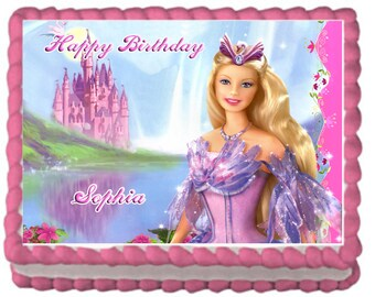 Barbie Princess Cake Topper with FREE Personalization