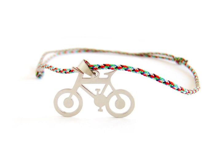 Bicycle Jewellery, Bicycle Necklace, Men Necklace Stainless Steel, Downhill Bike Necklace