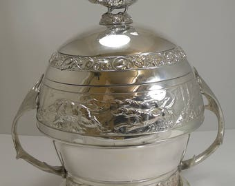 Grand Vintage Silver Plated Hunting Tureen by WMF c.1920 - Signed