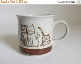 Sale - Vintage 1970's Crazy Cat Lady Ceramic Coffee Mug