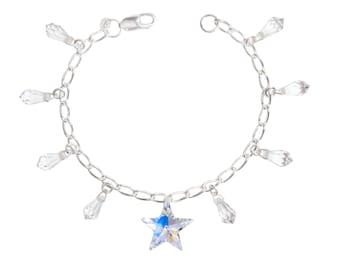 Wedding / prom Swarovski Crystal & Swarovski Charm Shooting Star Bracelet in Crystal
