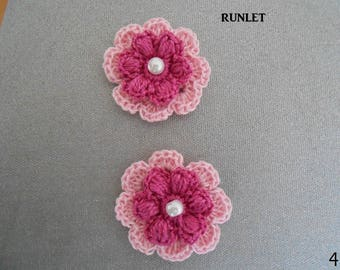 4crochet flower/crocheted flower