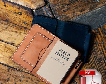 Leather Deluxe Field Notes Case Digital Template (8.5 x 11) - Leathercraft Pattern