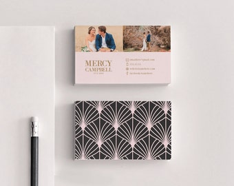 Mercy double sided elegant photography business card - Instant download
