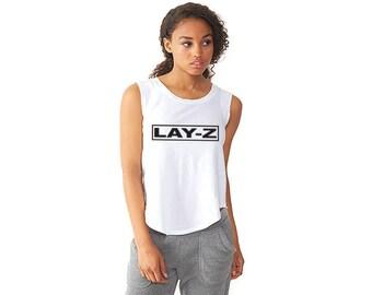 LAY-Z - Ladies' Cap-Sleeve Satin Jersey Crew